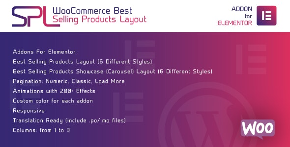 Download WooCommerce Best Selling Products Layout for Elementor v1.0.0 - WordPress Plugin Free / Nulled