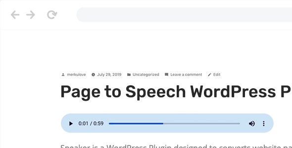 Download Speaker v3.0.5 - Page to Speech Plugin for WordPress Free / Nulled