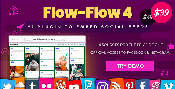 Download Flow-Flow v4.6.4 - WordPress Social Stream Plugin Free / Nulled