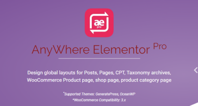 Download AnyWhere Elementor Pro v2.15.5 - Global Post Layouts Free / Nulled