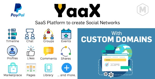 Download YaaX v1.2.5 - SaaS platform to create social networks - With Custom Domains Free / Nulled