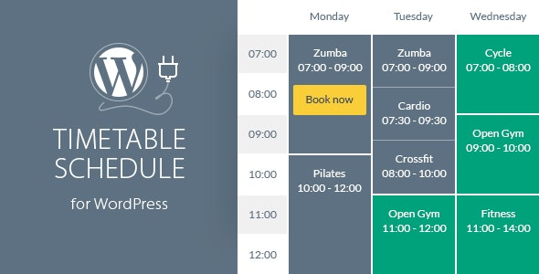 Download Timetable Responsive Schedule v6.2 Free / Nulled