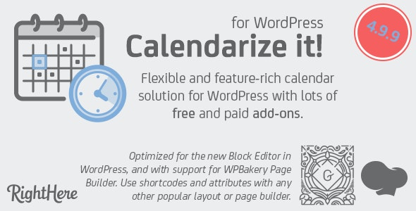 Download Calendarize it! for WordPress v4.9.9.97605 Free / Nulled