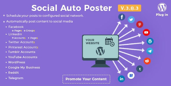Download Social Auto Poster v3.8.3 - WordPress Plugin Free / Nulled
