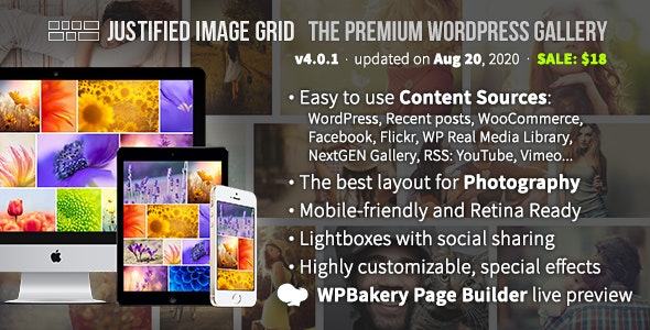 Download Justified Image Grid v4.0.1 - Premium WordPress Gallery Free / Nulled