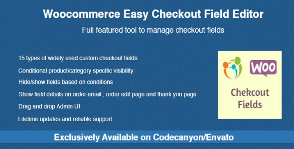 Download Woocommerce Easy Checkout Field Editor v2.0.5 Free / Nulled