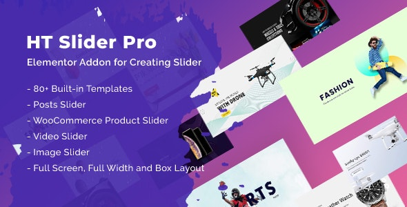 Download HT Slider Pro For Elementor v1.0.3 Free / Nulled