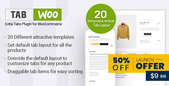 Download TabWoo v1.0.2 - Custom Product Tabs for WooCommerce Free / Nulled