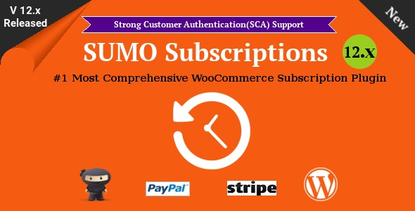 Download SUMO Subscriptions v12.0 - WooCommerce Subscription System Free / Nulled