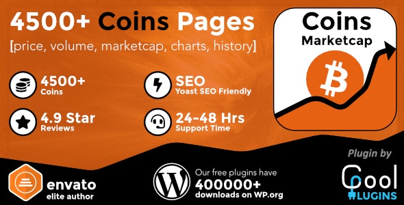 Download Coin Market Cap & Prices v3.9.1 - WordPress Cryptocurrency Plugin Free / Nulled