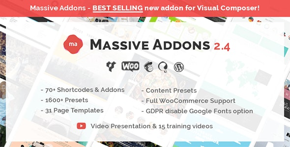Download Massive Addons for WPBakery Page Builder v2.4.6.1 Free / Nulled