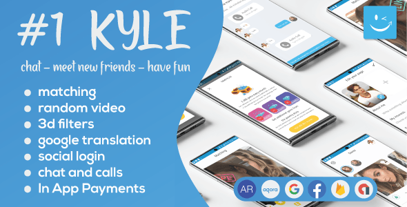 Download Kyle v17.0 - Premium Random Video & Dating and Matching Free / Nulled