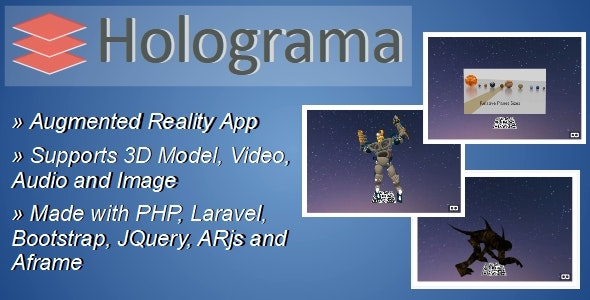 Download Holograma v2.1 - Augmented Reality Builder App Free / Nulled