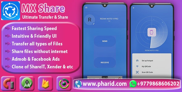 Download MXShare v1.0 - MXShare Clone | Ultimate Transfer & Share Free / Nulled