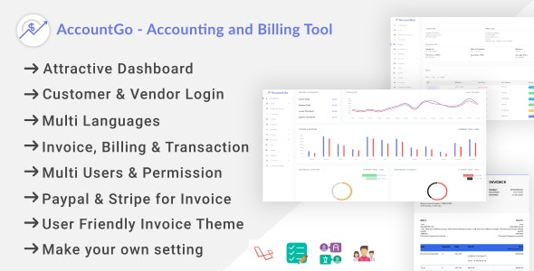 Download AccountGo v2.1 - Accounting and Billing Tool Free / Nulled