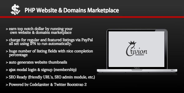 Download PHP Website and Domains Marketplace v1.8 Free / Nulled