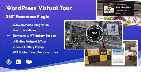 Download WordPress Virtual Tour v1.0.5  - 360 Panorama Plugin Free / Nulled