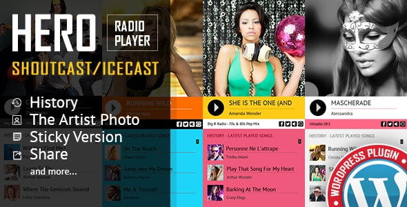 Download Hero v3.4 - Shoutcast and Icecast Radio Player Free / Nulled