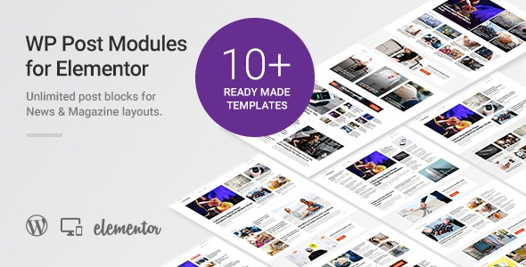 Download WP Post Modules for NewsPaper and Magazine Layouts (Elementor Addon) v1.7.0 Free / Nulled