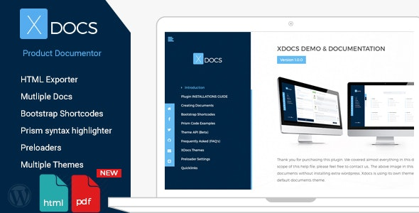 Download X Docs v1.0.9 - Wordpress Product Documentation Creator Free / Nulled