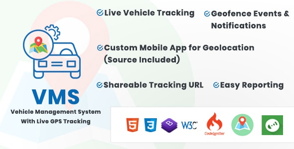 Download Vehicle Management System With Live GPS Tracking v3.1 Free / Nulled