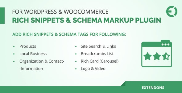 Download Rich Snippets & Schema Markup Plugin for WordPress & WooCommerce v1.0.3 Free / Nulled