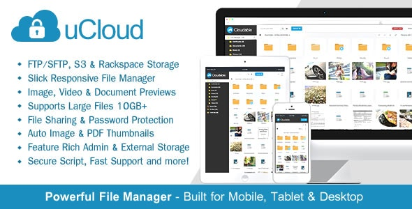 Download uCloud v2.0.1 - File Hosting Script - Securely Manage, Preview & Share Your Files Free / Nulled