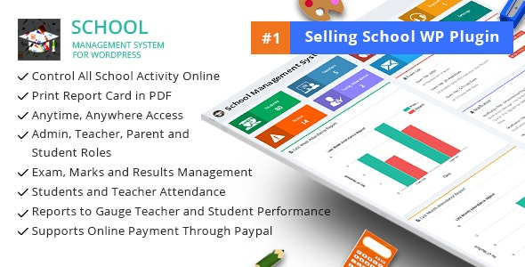 Download School Management System for Wordpress v66.0 Free / Nulled