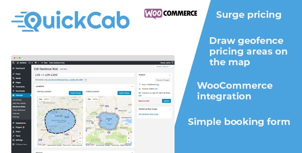 Download QuickCab v1.2.3 - WooCommerce Taxi Booking Plugin Free / Nulled