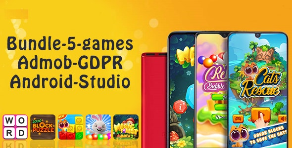 Download Bundle#1 , 5 Games (Admob + GDPR + Android Studio) v1.0 Free / Nulled