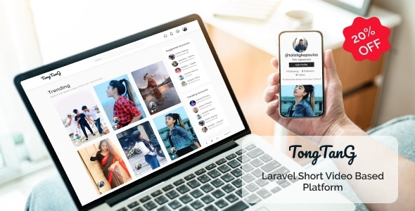 Download TongTang v1.0 - Laravel Short Video Sharing Platform Free / Nulled