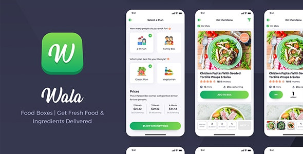 Download Wala v1.0 - Food & Delivery React Native App Template Free / Nulled