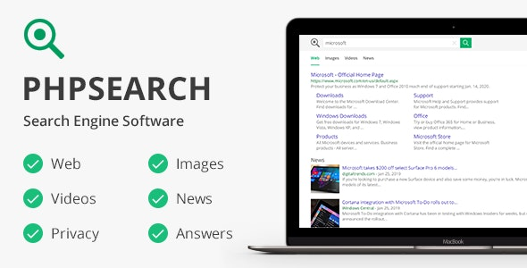 Download phpSearch v5.0.0 - Search Engine Platform Free / Nulled