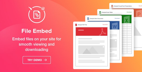 Download File Viewer v1.1.0 - WordPress File Embed plugin Free / Nulled