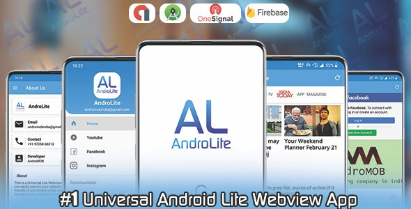 Download AndroLite v1.0 - Easy Configurable Android WebView App Template Free / Nulled