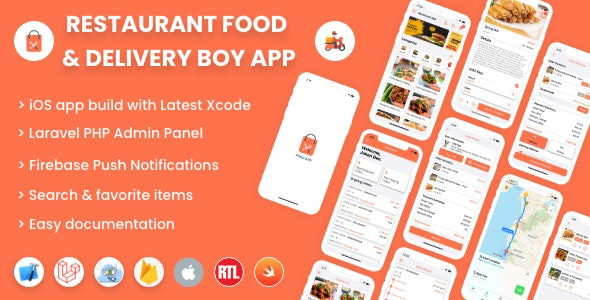 Download Single restaurant iOS food ordering app with Delivery Boy and Admin Panel v2.0 Free / Nulled