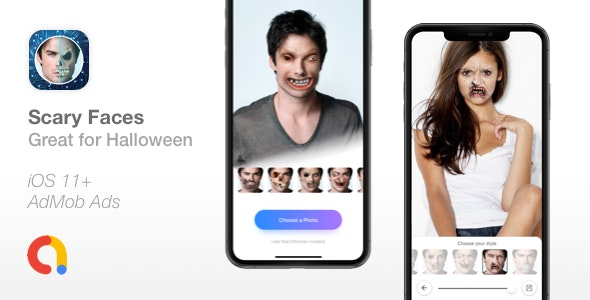 Download Scary Faces v1.0 - Apply Face Morphing filters Free / Nulled