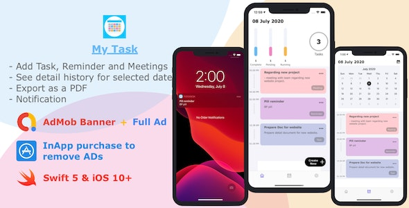 Download MyTask v1.0 - to-do list app Free / Nulled
