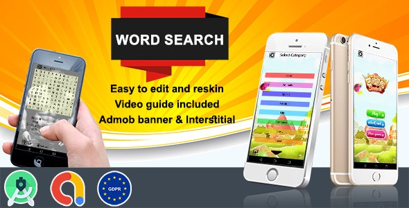 Download Word Search (Admob + GDPR + Android Studio) 26 august 2020 Free / Nulled