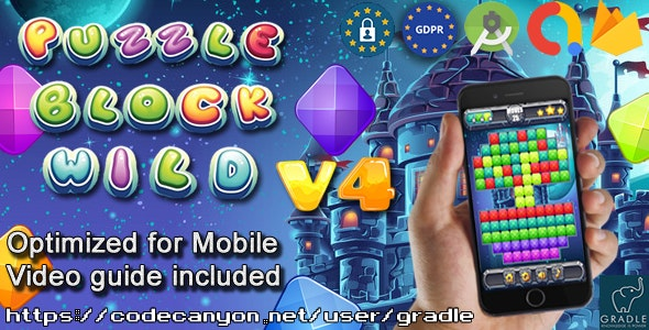 Download Puzzle Block Wild V4 (Admob + GDPR + Android Studio) Free / Nulled