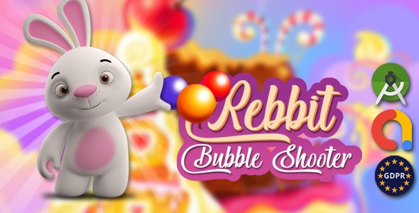 Download Rebbit bubble android studoi + admob v1.0 Free / Nulled