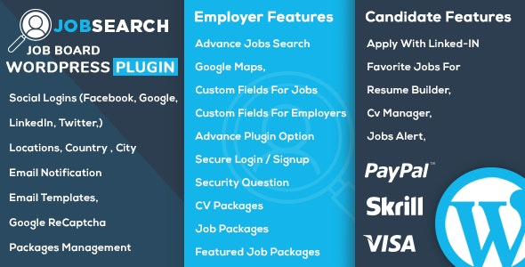 Download JobSearch v1.5.8 - WP Job Board WordPress Plugin Free / Nulled
