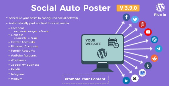 Download Social Auto Poster v3.9.0 - WordPress Plugin Free / Nulled