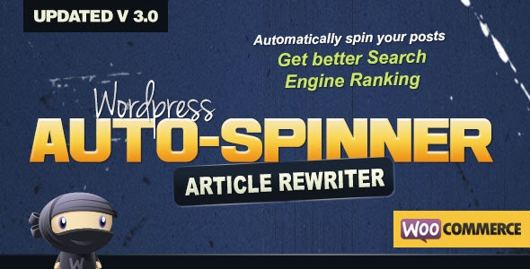 Download Wordpress Auto Spinner v3.7.5 - Articles Rewriter Free / Nulled