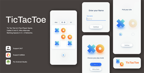 Download Tic Tac Toe v1.0.3 - Simple & Minimal Game Free / Nulled