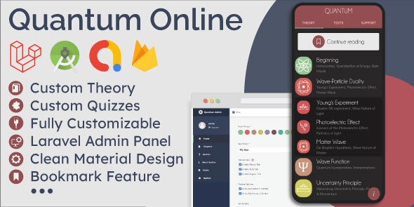 Download Educational App (Theory & Quizzes) + Admin Panel v1.0 Free / Nulled