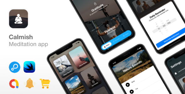 Download Calmish v1.0 - Meditation & Relaxation SwiftUI app - iOS 14 ready Free / Nulled