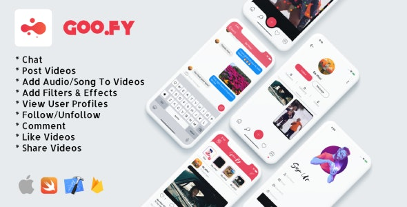 Download Goo.fy v1.0.0 - iOS Video Sharing App Free / Nulled