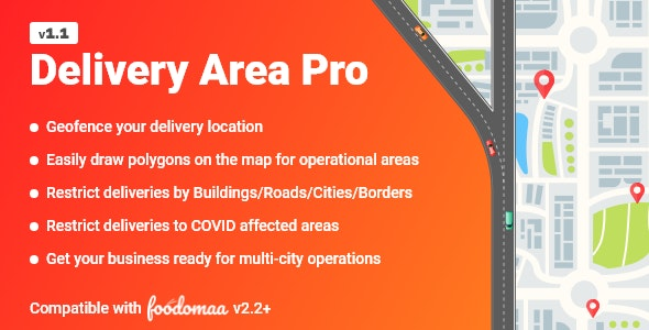 Download Delivery Area Pro v1.1 - Module for Foodomaa Free / Nulled