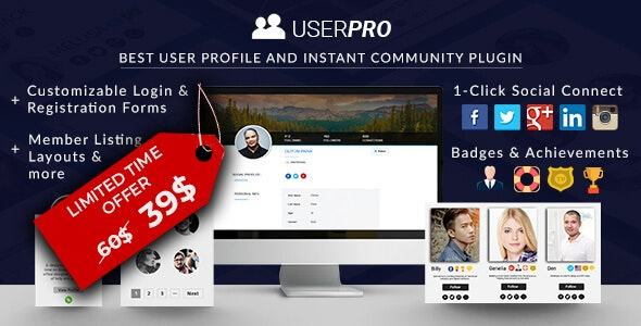 Download UserPro v4.9.38 - User Profiles with Social Login Free / Nulled
